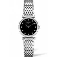 Longines La Grande Classique Black Diamonds Steel women's watch