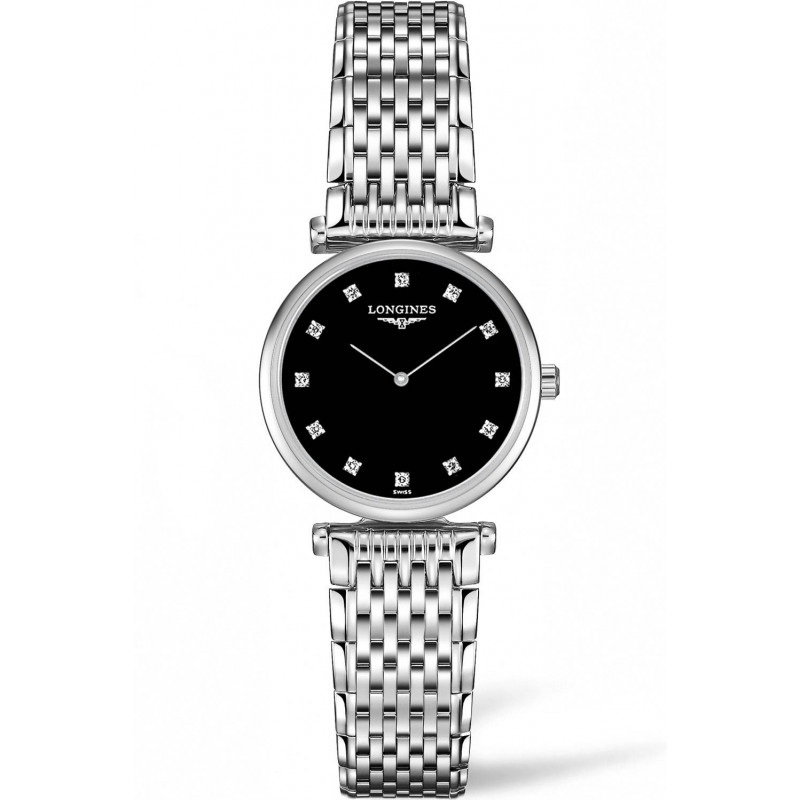 Longines La Grande Classique Black Diamonds Steel women's watch