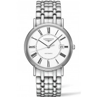Longines  Presence 38.5mm  White Steel Leatherstrap Lady's
