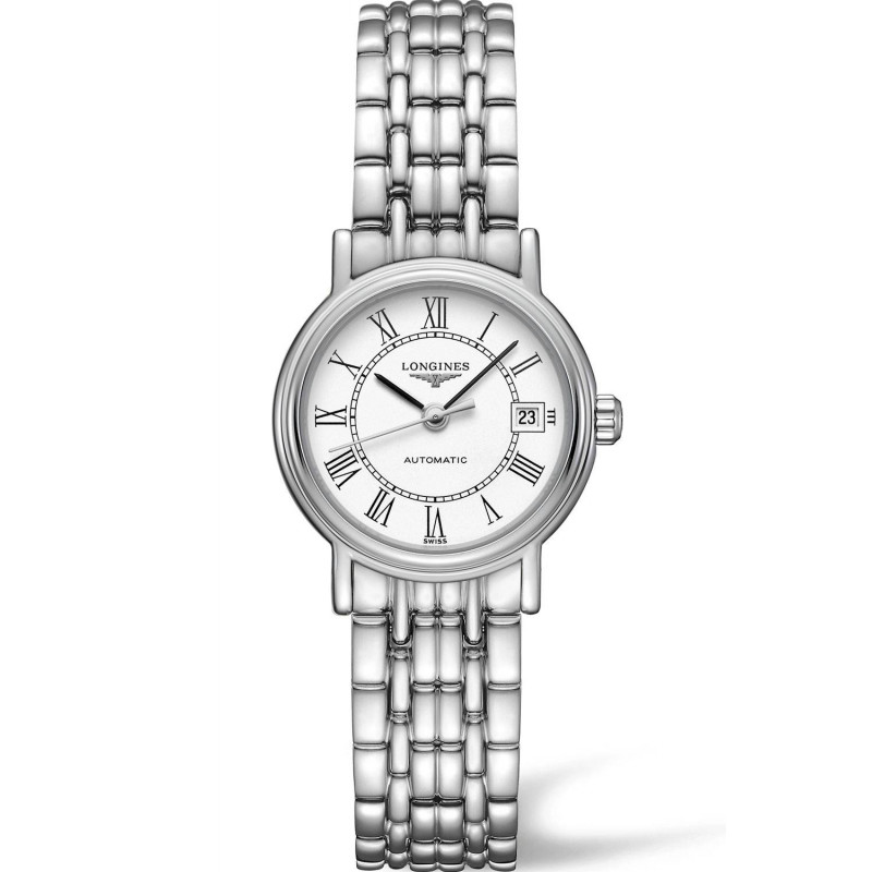 Longines  Presence 35mm  White Steel Bracelet