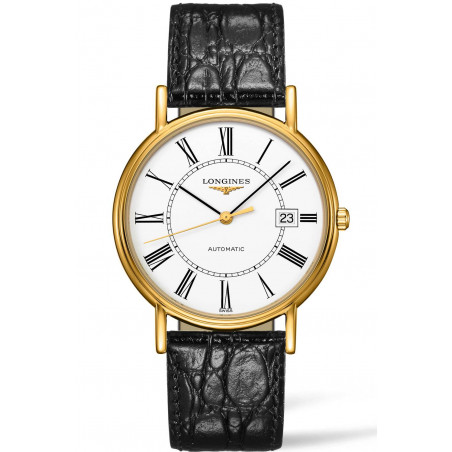 Longines - Presence 38,5mm White & Yellow Gold PVD Gent's Watch