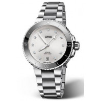 Oris - Aquis Date Lady's 36.5 mm Diamonds & Bracelet Lady's