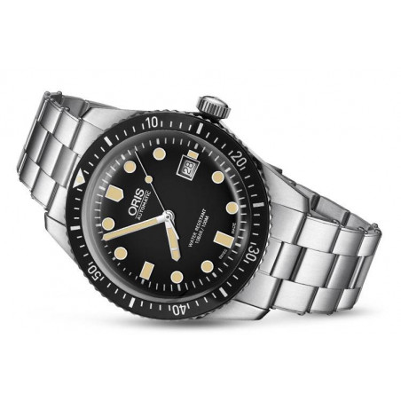 Oris Divers Sixty-Five 42 mm Svart & Stållänk