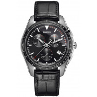 Rado - HyperChrome Black & Leather Quartz Chronograph