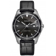 Rado - HyperChrome Black & Leather Quartz Mens