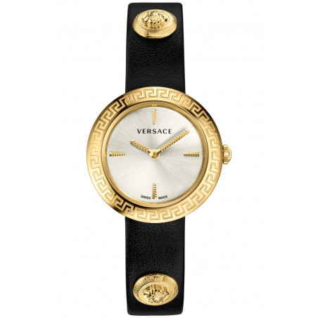 Versace - Medusa Stud Icon Silver & Gold Lady's VERF00118