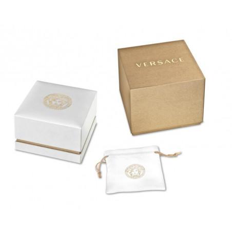 Versace - Medusa Stud Icon Black & Gold Lady's VERF00318