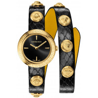 Versace - Medusa Stud Icon Black & Gold Lady's