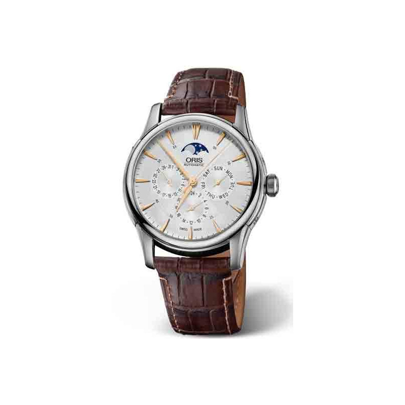 Oris Artelier Complication Moonphase, Day, Date, 2 time zones