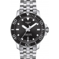 Tissot Seastar 1000 Powermatic 80 Black & Steel Gent's Watch