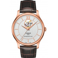 Tissot - TRADITION POWERMATIC 80 OPEN HEART Vit & Rose guld