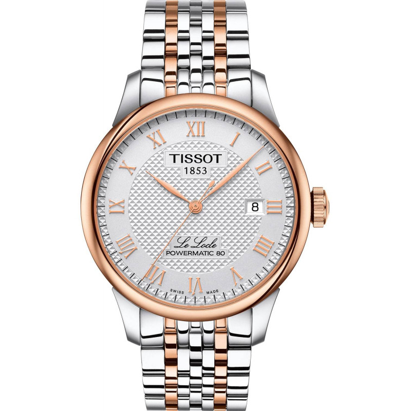 Tissot - Le Locle Automatisk Vit & Rose Guld PVD 39mm