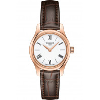 Tissot - Tradition Thin 5,5 White & Leather Rose Gold Pvd 25mm