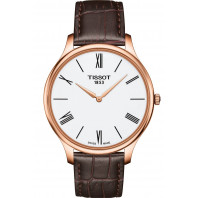 Tissot - Tradition Thin 5,5 White & Leather Rose Gold Pvd 39mm