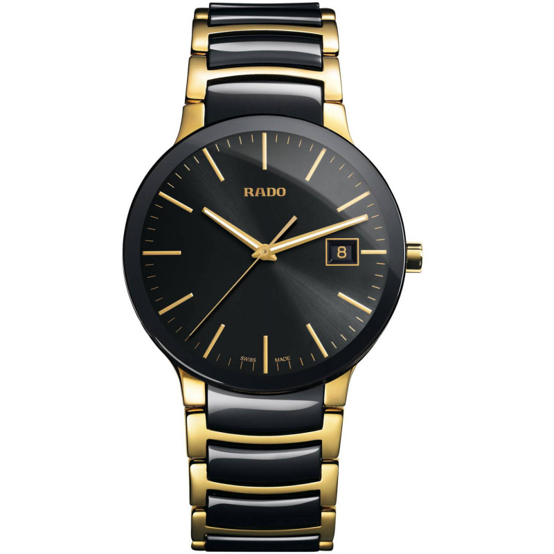 Rado - Centrix Automatic Black Ceramic & Gold Gent's Watch