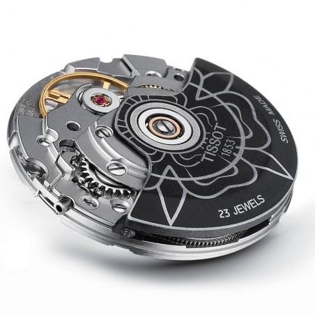 Tissot - Lady Heart Flower Powermatic 80 Steel & Leatherstrap