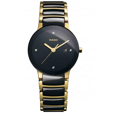 Rado - Centrix Quartz Black Ceramic & Gold Lady's R30930712