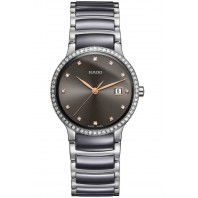 Rado - Centrix Quartz Black Ceramic & Diamonds Lady's
