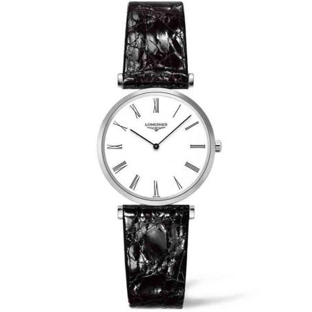 Longines La Grande Classique 29mm white dial and leather strap L45124112