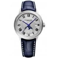 Raymond Weil- Maestro- Silver Moon Phase Silver & Leather