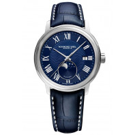 Raymond Weil - Maestro Moon Phase Blue & Leather strap