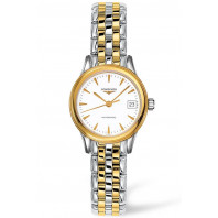 Longines - Flagship White Steel & Gold PVD 26mm