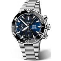 Oris - Aquis Kronograf blå & svart keramisk ring 77477434155MB