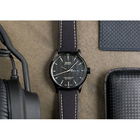 MIDO Multifort COSC Certified black dial & rubber strap M0384313705100
