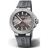 Oris - Aquis Date Relief grey rubber strap 0173377304153-0742463EB