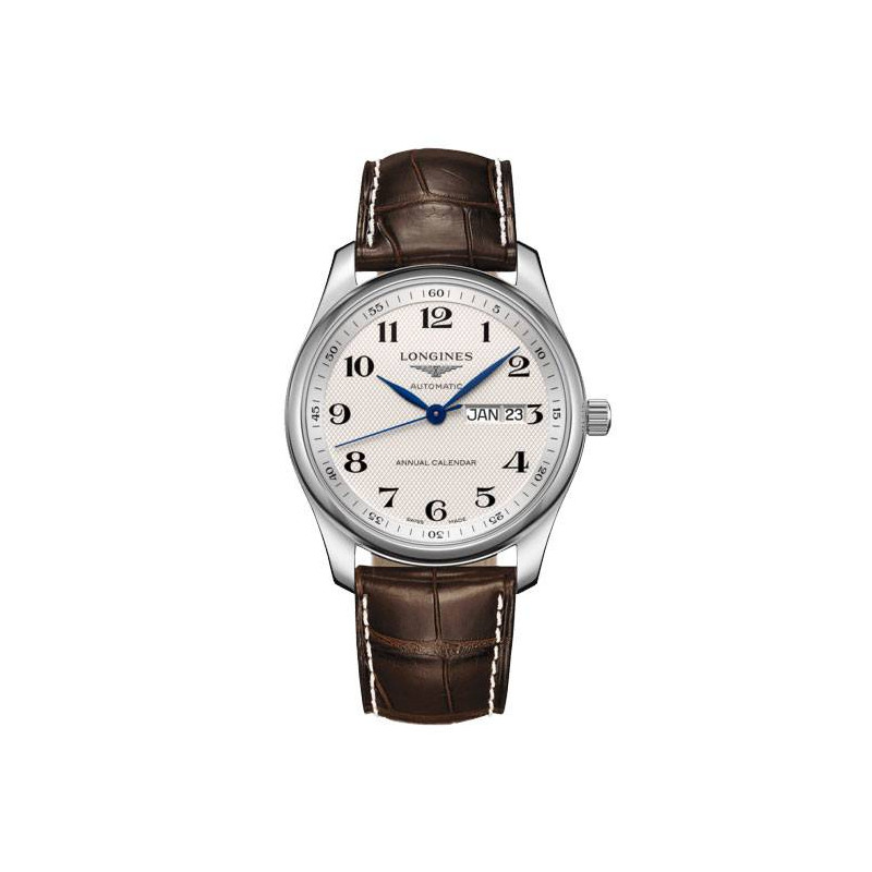 Longines - Master Annual Calendar White & Leather, 40mm, ref L29104783