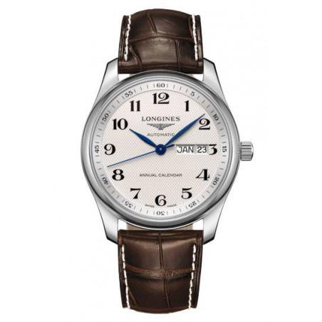 Longines - Master Annual Calendar White & Leather, 40mm, ref L29104783