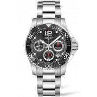 Longines - HydroConquest 41mm Chronograph Ceramic Black & Steel Bracelet L37834566