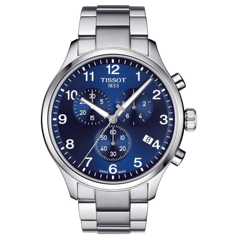 Tissot Chrono XL Classic blå urtavla & stållänk T1166171104701