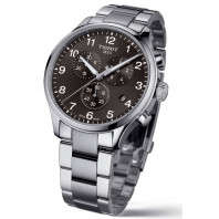 Tissot Chrono XL Classic svart urtavla & stållänk T1166171105701