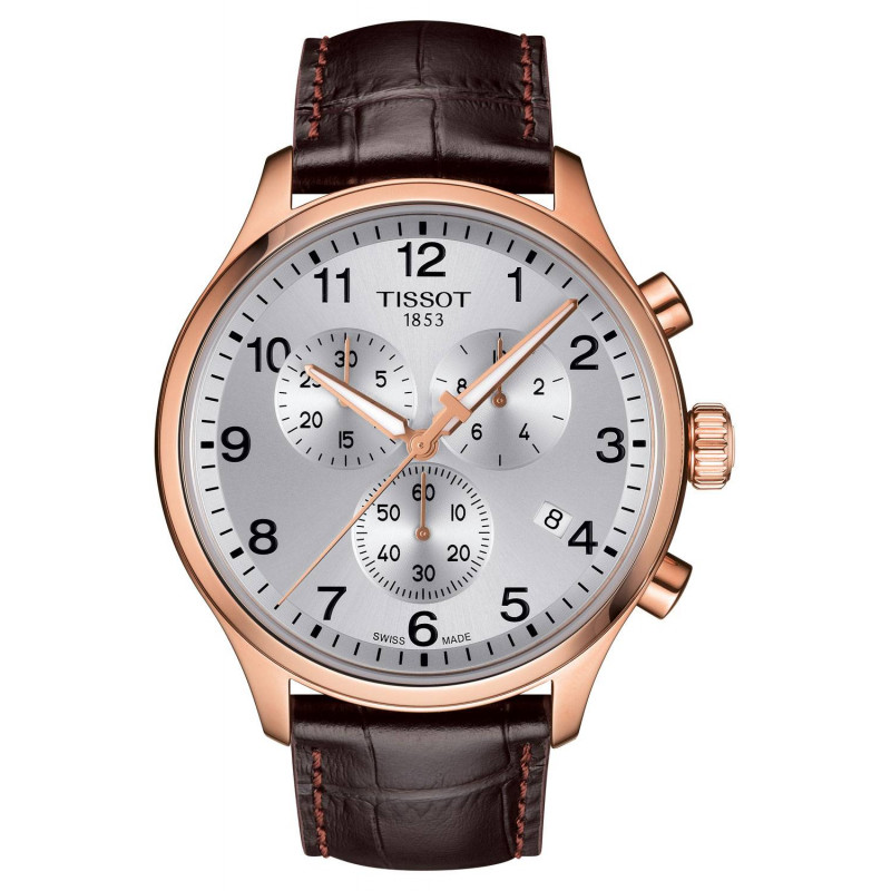 Tissot Chrono XL Classic gold PVD & leather strap T1166173603700