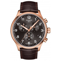 Tissot Chrono XL Classic Gold PVD Black & Leather strap
