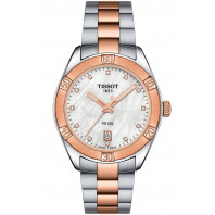 TISSOT PR100 Sport Chic Lady's watch, steel & gold PVD T1019102211600