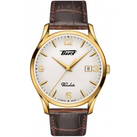 Tissot - Heritage Visodate Quartz white dial & gold PVD T1184103627700