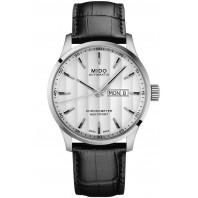 MIDO Multifort - COSC Silver urtavla, läderband, M0384311603100
