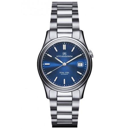 Sjöö Sandström - Royal Steel Classic 36mm, blå urtavla 36mm 020326