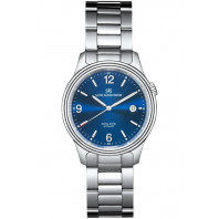Sjöö Sandström Royal Steel Classic 41mm, blå urtavla & stållänk 009710