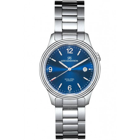 Sjöö Sandström - Royal Steel Classic 41mm, blue dial & bracelet 009710