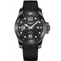 Longines - HydroConquest All-Black 43mm Keramisk Boett & Gummiband L37844569