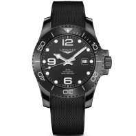 Longines - HydroConquest All-Black Keramisk Boett & Gummiband Svart 43 mm