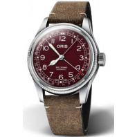 Oris - Big Crown Pointer Date Red & Leather strap