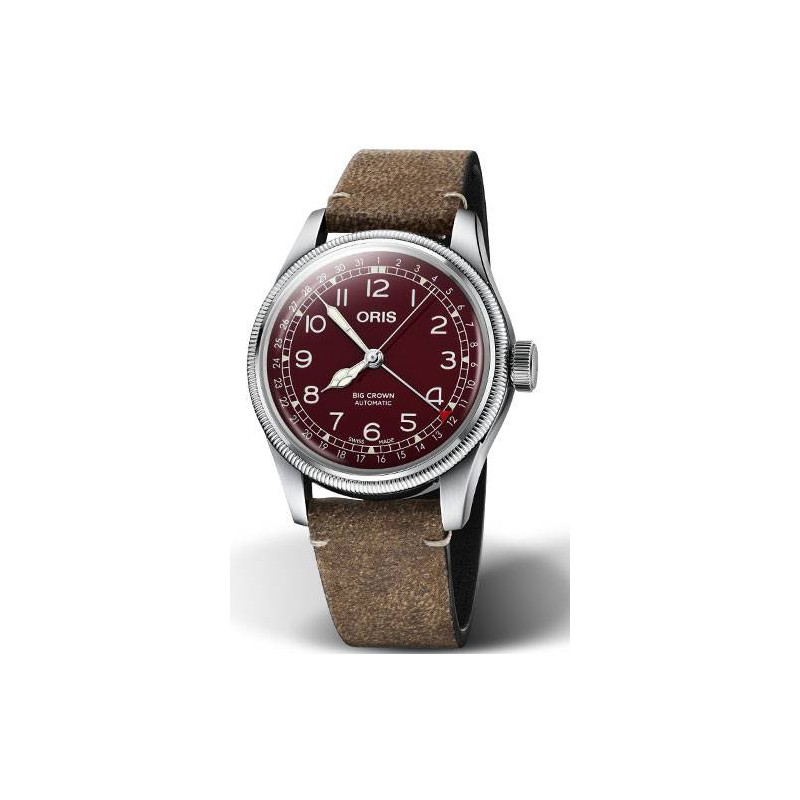 Oris Big Crown Pointer Date red & leather 754 7741 4068-07 5 20 50