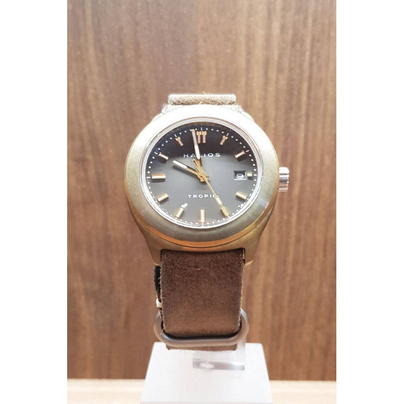 PRE-OWNED Halios Tropik B Bronze Limiterad Herrklocka 41 mm