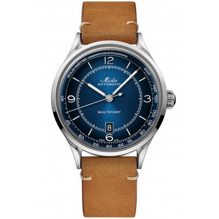 MIDO Multifort Patrimony with blue dial M0404071604000