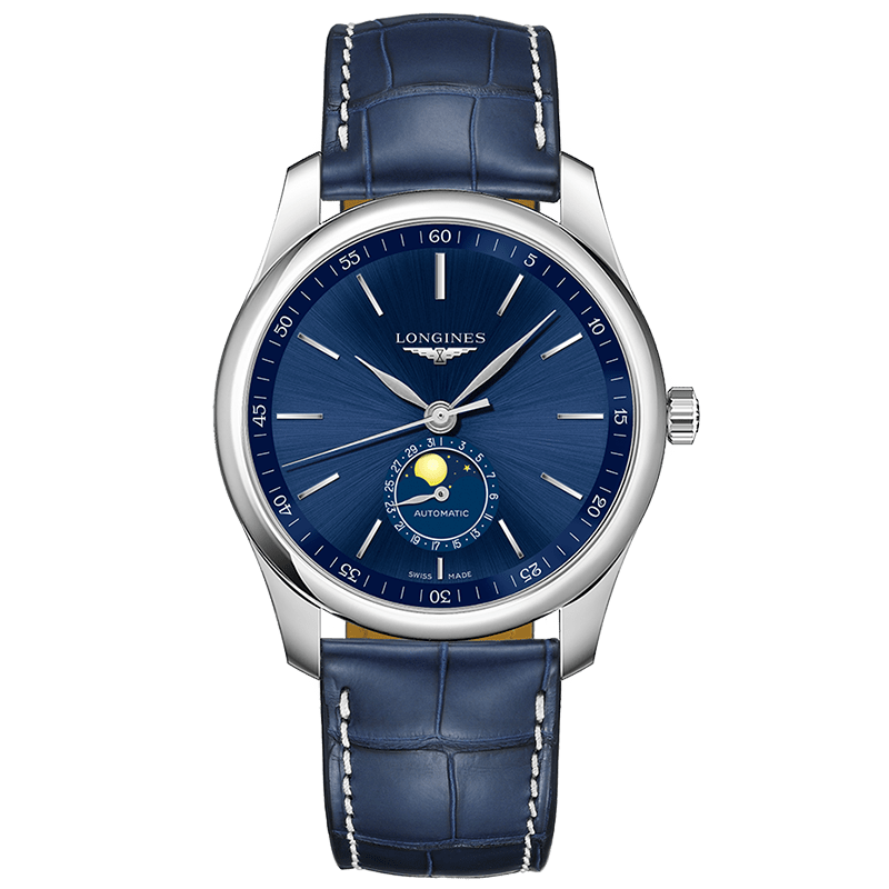 Longines - Master 40mm månfas blå. L29094920