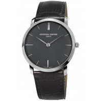 Frédérique Constant - Slimline 38,5mm Grey & Leather Quartz